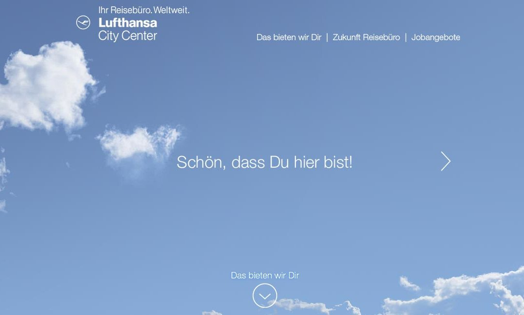 Employer-Branding Website für Lufthansa City Center