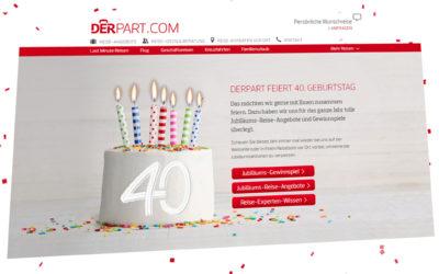 Die Multichannel-Jubiläumsfeier zum 40. Geburtstag von DERPART